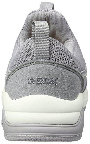 Geox J Hideaki C, Zapatillas Para Niñas Gris (Greyc1006)