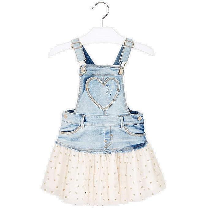 ac5c37c51 Mayoral Falda Peto Tejano Tul Glitter niña Modelo 3905 (3A)  Amazon ...