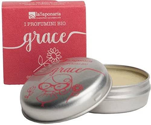 LA SAPONARIA - Solid Perfume Grace - Hot Spring - 100% Natural - Rich in Essential Oils - for Skin and Hair - Vegan - Made with Rice and Almonds Wax - 15 ml