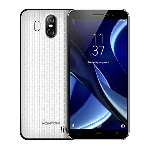 NOMENI 5.5''Ultrathin 3G Android 7.0 2GB + 16GB MTK6580 Quad-core Smartphone Dual Back Camera HD Mobiele Telefoon (White) (2 Bundle Gb Accessory)