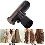 Inkach Hairdryer Curler - Air Tube Blowing Curly Hair Blower Dryer Attachment Kit (Black)