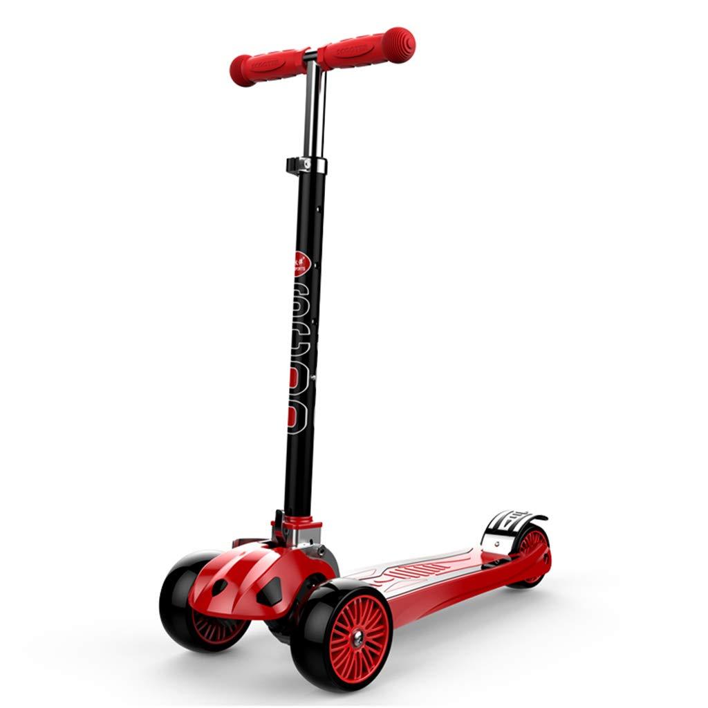 Patinetes Scooter para niños de 8 años, 3 Big Wheels Scooter Board para niños pequeños Adultos, aleación de Aluminio (Color : Green)