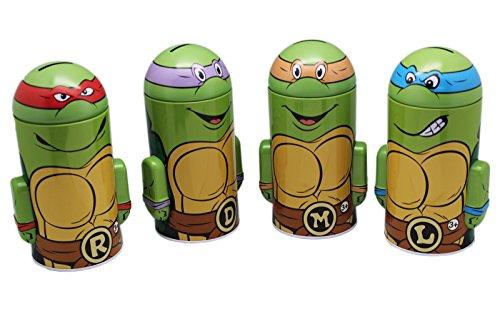Teenage Mutant Ninja Turtles Tin Coin Bank Set (4 banks) (Ninja Turtle Piggy Bank Donatello compare prices)
