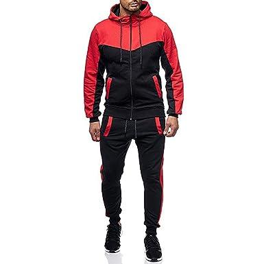 3e0ef5c7 FRCOLT Men's Color Block Slim Sweatshirt Sweatpants Set Sports Suit  Tracksuit at Amazon Men's Clothing store: