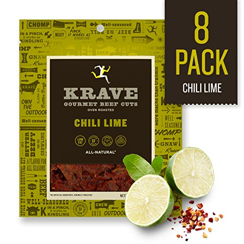 KRAVE Jerky Gourmet Beef Cuts, Chili Lime, 2.7 Ounce (Pack of -