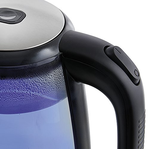 -[ Cooks Professional Electric Cordless Glass Kettle 2.0L Blue Illumination LED 2200 Watts (Silver)