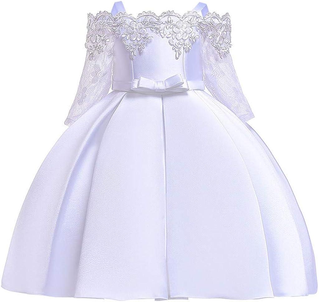 LuckyGirls Vestidos Elegantes Niña Princesa Vestidos de Fiesta Boda Niños Niñas Bautismo Vestido Carnaval Vestido sin Mangas Casual: Amazon.es: Ropa y accesorios
