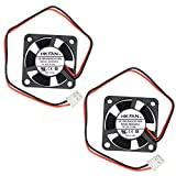 30mm fan - Security-01 2packs 30mm x 30mm x 10mm 3010 12V 0.15A Ball Bearing Brushless DC Cooling Fan 2pin AB3010H12 UL TUV