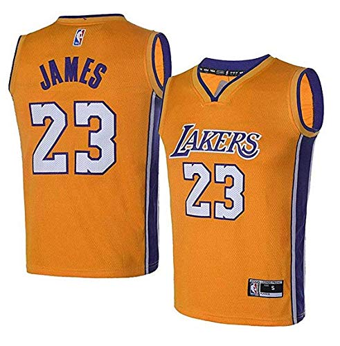 brand new 7c807 b8d5e OuterStuff Youth Los Angeles Lakers #23 LeBron James Kids Gold Jersey  (Youth S)