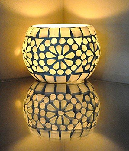 Vintage Handmade Glass Candle Holder Cup Table Decor Tea Lig