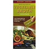 Savory Choice Liquid Reduced Sodium Vegetable Broth Concentrate, 4.2 Ounce Box