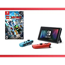 Nintendo Switch - Neon Blue and Red Joy-Con + The Lego Ninjago Movie Switch Bundle ( 2- Items )