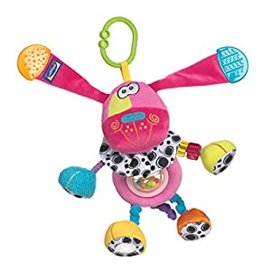Playgro 0183453 Pink Activity Doofy Dog STEM Toy for baby toddler