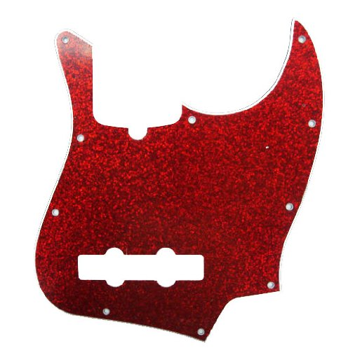 Red Electric Guitar Sparkle (D'Andrea Jazz Bass Pickguards for Electric Guitar, Red Sparkle)