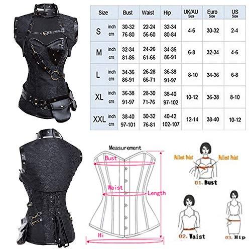 Bustier Corset Lingerie Steampunk Shaper China Fantaisie Pour Gothique Noir Faux Femmes Body Désossé Costume Rtgsdslv Robe Cuir XSHn8n