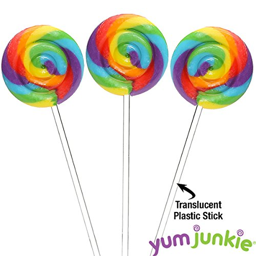 Rainbow Swirl Lollipops (Rainbow Swipple Pops Petite Swirl Ripple Lollipops - Cherry: 60-Piece Tub)