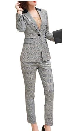 dahuo - Pantalón de Traje - Manga Larga - para Mujer 4 XS ...