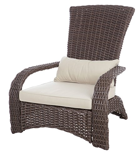 Fire Sense 62172 Deluxe Coconino Wicker Chair, Mocha