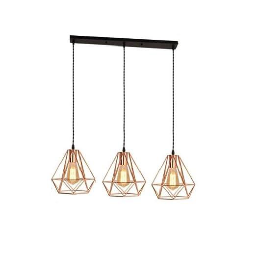 ZHANG NAN ○ ® 3 Cabeza Hierro labrado Lámpara geométrica ...