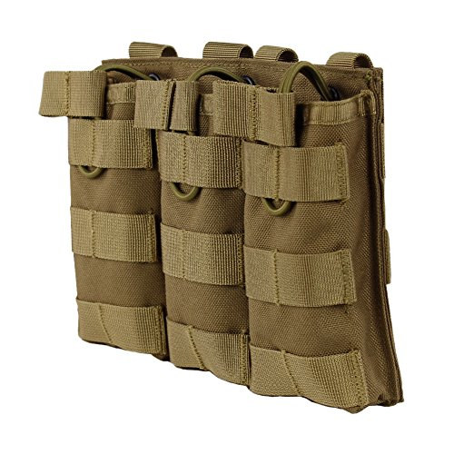 (Wynex M4 M16 AR-15 Type Magazine Pouch Triple Mag Holder Open-Top Military Airsoft CS Game)