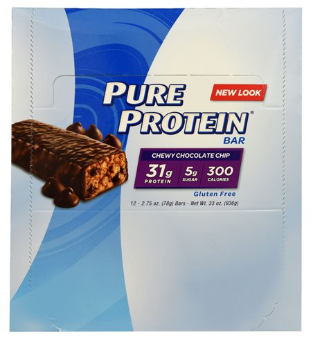 Worldwide Sports Nutrition Pure Protein Bar Chewy Chocolate Chip -- 12 Bars - 3PC by Pure Protein