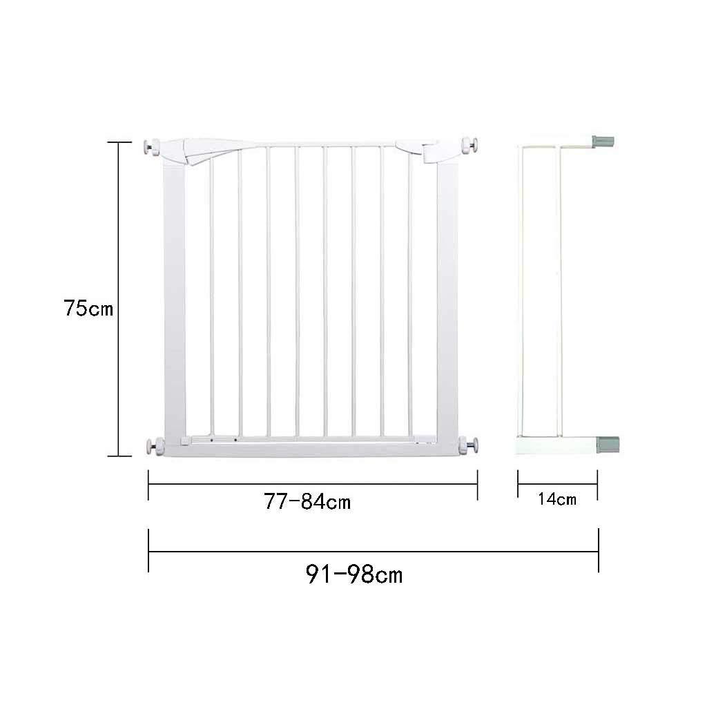 デラックスプレッシャーフィットセーフティゲート安全柵ドアや階段のセキュリティドア子供やペットに最適 (Size : 91-98*75cm) 91-98*75cm  B07P9837X7