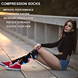 Compression Socks For Women&Men 1/3/6 Pairs