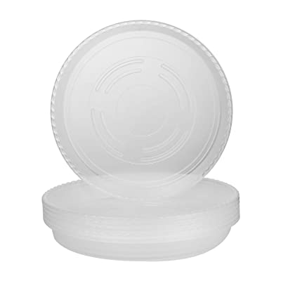Akarden 6 Pack 8 inch Plant Saucer Clear Plastic Flower Plant Pot Saucer for Indoor & Outdoor Plant Pot Saucer Trays : Garden & Outdoor