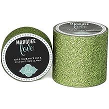 "Brand New Heidi Swapp Marquee Love Washi Tape .875""-Lime Green Glitter, 10' Brand New"