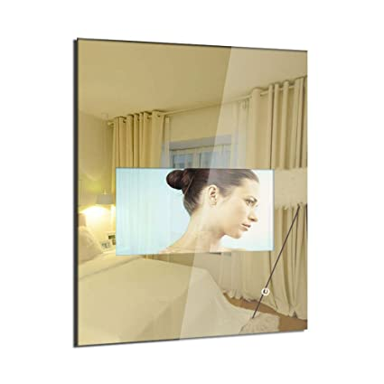 MOOWIM 18 5 inch Mirror TV Glass Wall Mount Smart Televesion