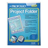Itoya Profolio Project Folder, Tab System to Secure Documents, 18 X 24 inches, Clear (PF-1824CR)