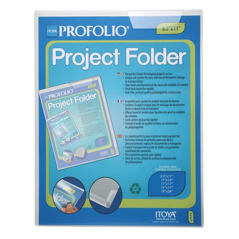 Itoya Profolio Project Folder, Tab System to Secure Documents, 18 X 24 inches, Clear (PF-1824CR) by ITOYA