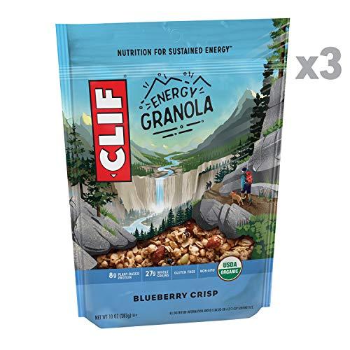 Clif Energy Granola - Organic, Gluten Free Nutrition - Blueberry Crisp - (10 Ounce Bag, 3 Count)