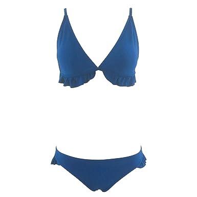 b231b2bf26d769 Amazon.com: Heartell 2019 New Women 2pcs Ruffle Bikini Swimsuits Sling  Adjustable Strap Deep V Sexy Padded Up Bathing Suits: Clothing