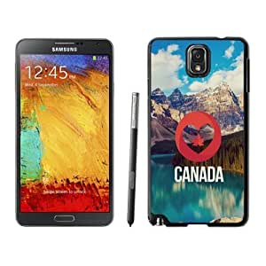 NEW Unique Custom Designed Samsung Galaxy Note 3 N900A N900V N900P N900T Phone Case With I Love Canada Nature Landscape_Black Phone Case
