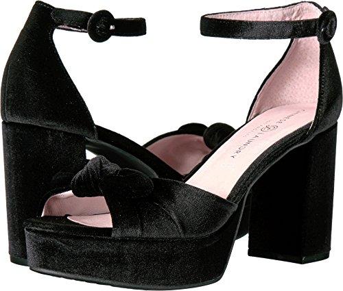 Chinese Laundry Women's Tina Platform Dress Sandal, Black Velvet ,  8 M US