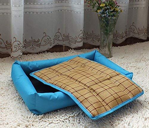 Kennel Pads Dog Beds Pet Bed Blankets Pet Summer Cold Cushion Cat Summer Sleeping Mat(S,bluee Cat Bed Pet Supplies Cover