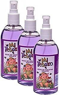 Mi Tesoro Agua de Violeta Spray 8 oz bottle. Pack of 3