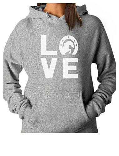 Love Horses - Animal Lover Rearing Horse - Gift for Horse Lover Women Hoodie Medium Gray