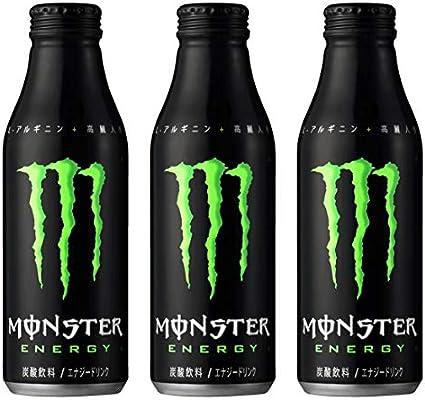 Amazon | モンスターエナジー ボトル缶 500ml×3本 | 炭酸飲料 | 通販