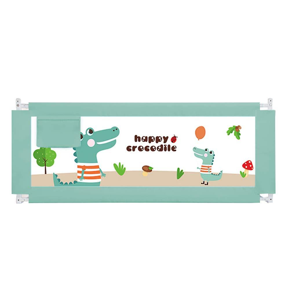 ベビーベッド、ポータブル折りたたみベッドレールのベッドレール幼児の赤ちゃんと子供のためのシングルベッドガード安全保護ガード垂直リフト、ホルムアルデヒド、においなし (色 : Crocodile, サイズ さいず : 2m) 2m Crocodile B07L4S2SLK