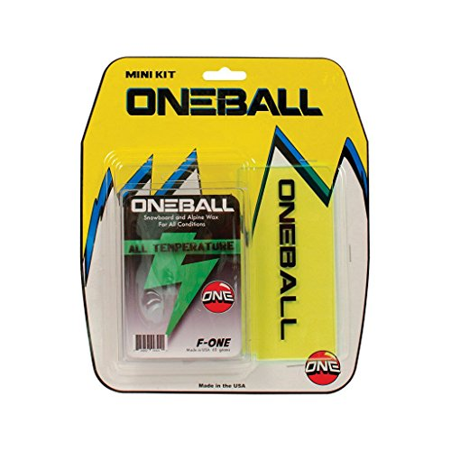 ONEBALL MINI WAX KIT F-1 All Temp Wax, ski snowboard Plastic Scraper 2015 One ball kit NEW by ONEBALL