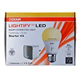 OSRAM SYLVANIA Lightify Smart Starter Kit 9.5-Watt (60W Equivalent) 2,700K A19 Medium Base (E-26) Dimmable Soft White LED Bulb with Built-In WiFi (Starter Kit with Bulb)