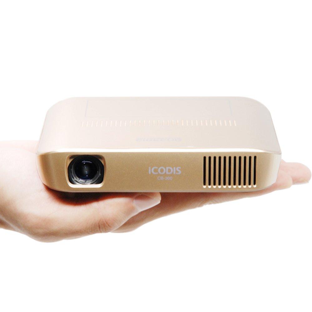 iCODIS CB-300 Pico proyector, video 3D de alta definición con 1800 lúmenes ANSI DLP bulbo, mini-HDMI, 30.000 horas de vida bombilla LED, Mobile y ...