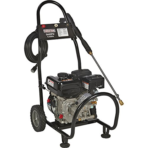 Ironton Gas Cold Water Pressure Washer - 2600 PSI, 2.3 GPM, Model Number 87034