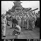 Photo Crewmen Battleship USS New Jersey