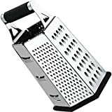 Compra Cheese-Grater-Vegetable-Slicer Stainless Steel - 6-sides , 9.5 Inch Height, Rubber Handle, Non Slip Rubber Bottom by Utopia Kitchen en Usame