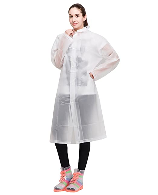 710bc6cf2458e LvRao largo vistoso capa de lluvia para mujer impermeable poncho ropa con  capucha abrigos para lluvia   Transparente  Amazon.es  Ropa y accesorios