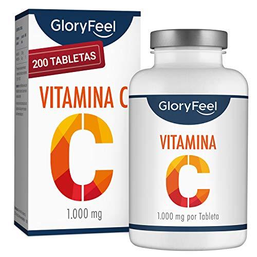 Vitamina C 1000 mg - Suministro para 7 Meses - Solo 1 Tableta al Dia - Vitamina C Pura mejora el sistema inmunologico y Reduce el cansancio y la fatiga - Sin aditivos