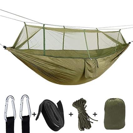Parachute Cloth Hammock with Mosquito Net Ultra Light Nylon
